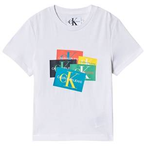 Image of Calvin Klein Jeans Patch Logo Tee Bright White 8 years