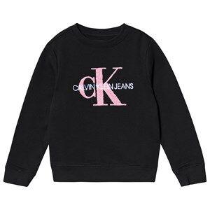 Image of Calvin Klein Jeans Logo Sweatshirt Black 4 years