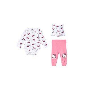 Hello Kitty Baby Set White/Pink Carnation 80 cm (9-12 Months)