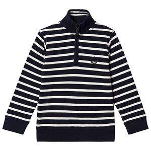 Henri Lloyd Stripe Zip Sweatshirt Navy 7-8 years