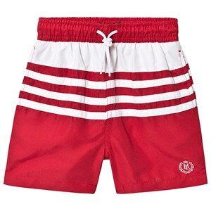 Henri Lloyd Small Logo Swim Shorts Red/White 8-9 years