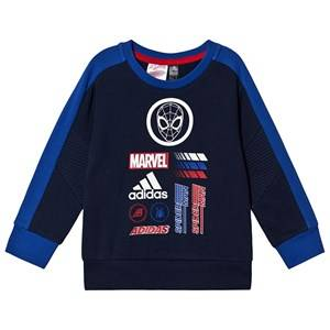 Image of adidas Performance Spiderman Logo Sweater Navy 4-5 years (110 cm)