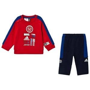 adidas Performance Spiderman Sweater and Pants Set Red/Navy 9-12 months (80 cm)