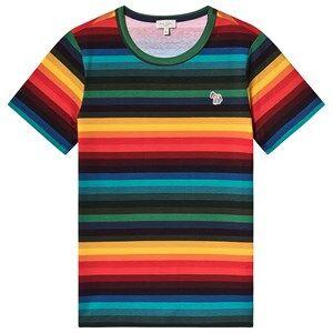 Paul Smith Junior Stripe Zebra Patch T-shirt Multi 10 years