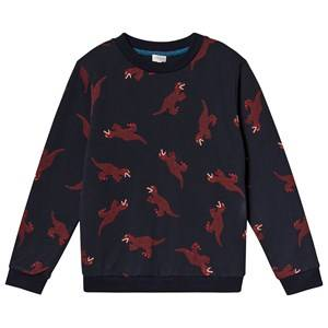 Paul Smith Junior Dino Print Sweater Navy 12 years