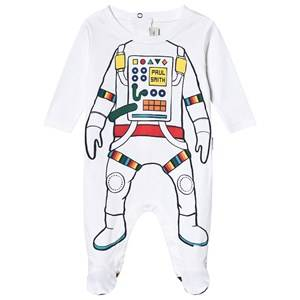 Paul Smith Junior Astronaut Print Footed Baby Body White 3 months
