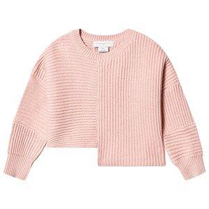 Stella McCartney Kids Asymmetric Knit Sweater Pink 6 years