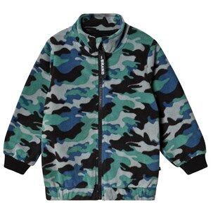 The BRAND Fleece Jacket Blue Camo 80/86 cm
