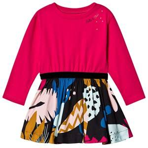 Image of Catimini Dress with Printed Skirt Pink 3 years