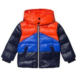 Diesel Color Block Puffer Jacket Black/Blue/Red 18 months