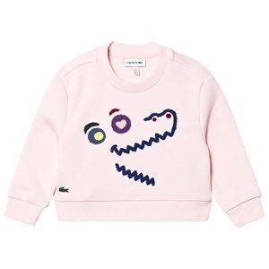 Lacoste Cartoon Sweatshirt Pink 10 years