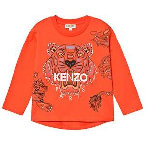 Kenzo Tiger Long Sleeve Tee Orange 12 years