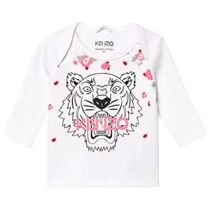 Kenzo Tiger Baby Long Sleeve Tee Optic White 3 months