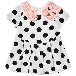 Wauw Capow Sleepy Cat Baby Dress White/Black Dots 92 cm (1,5-2 Years)