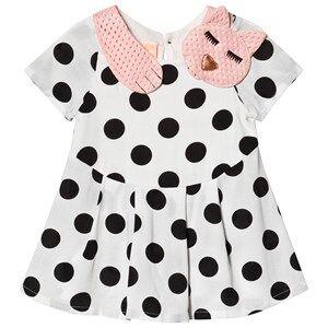Image of Wauw Capow Sleepy Cat Baby Dress White/Black Dots 92 cm (1,5-2 Years)