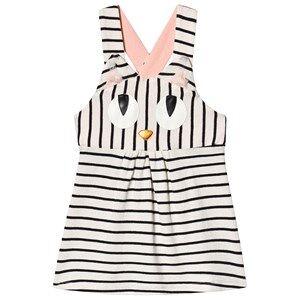 Wauw Capow Miss Meow Baby Dress Black/White Stripes 80 cm (9-12 Months)