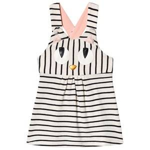 Image of Wauw Capow Miss Meow Baby Dress Black/White Stripes 92 cm (1,5-2 Years)