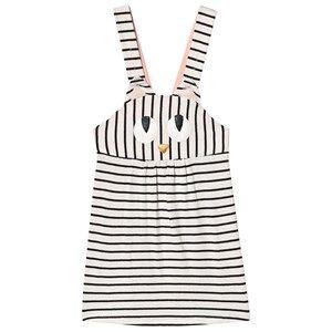 Wauw Capow Miss Meow Dress Black/White Stripes 4-5 Years