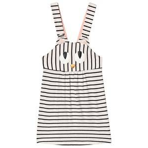 Wauw Capow Miss Meow Dress Black/White Stripes 3-4 Years