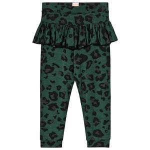 Image of Wauw Capow Betty Baby Leggings Green Leopard Print 74 cm (6-9 Months)