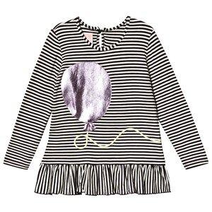 Wauw Capow Ella Balloony Top Black/White Stripes 5-6 Years