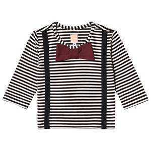 Wauw Capow Woody Baby T-Shirt Black/White Stripes 86 cm (1-1,5 Years)