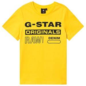 G-STAR RAW Originals Logo Tee Yellow 8 years