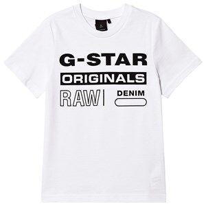 G-STAR RAW Originals Logo Tee White 16 years