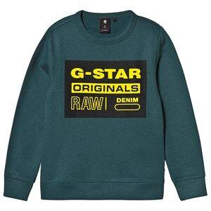 G-STAR RAW Logo Crew Sweatshirt Teal 8 years