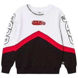 GCDS Retro Style Logo Sweatshirt White/Black/Red 4 Years