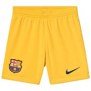 Image of Barcelona FC FC Barcelona Stadium Soccer Shorts Yellow XS (6-8 years)