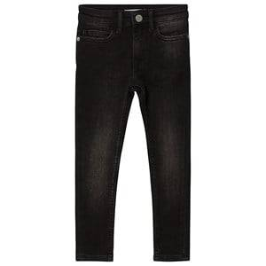 Image of Calvin Klein Jeans High Rise Skinny Jeans Black Denim 16 years