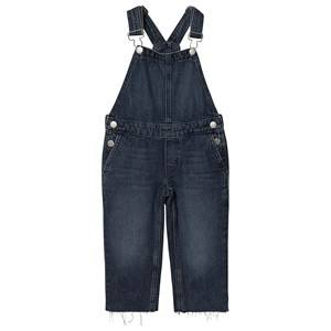 Image of Calvin Klein Jeans Cropped Leg Overalls Blue Mid Wash 4 years