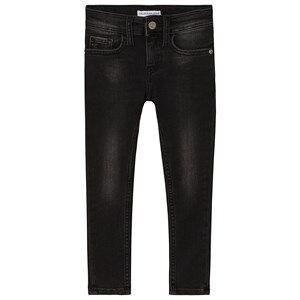 Image of Calvin Klein Jeans Rickety Stretch Skinny Jeans Black Denim 6 years
