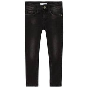 Image of Calvin Klein Jeans Rickety Stretch Skinny Jeans Black Denim 6 years
