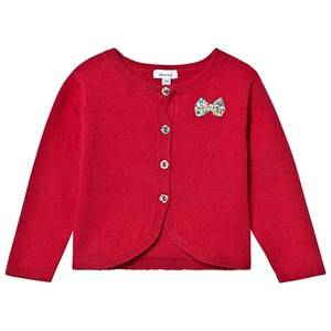 Image of Absorba Knit Liberty Bow Cardigan Red 6 months