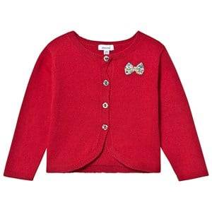 Image of Absorba Knit Liberty Bow Cardigan Red 12 months