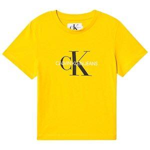 Image of Calvin Klein Jeans CKJ Monogram T-Shirt Yellow 6 years