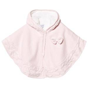 Image of Absorba Knitted Bow Poncho Pale Pink 9 months