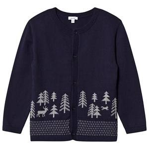 Image of Absorba Forest Knit Cardigan Navy 24 months