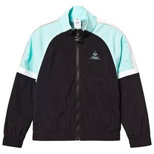 Puma PUMA x Diamond Tracksuit Jacket Black/Teal/White 9-10 years
