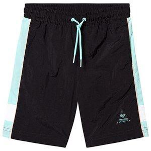 Puma PUMA x Diamond Tracksuit Shorts Black/Teal/White 11-12 years