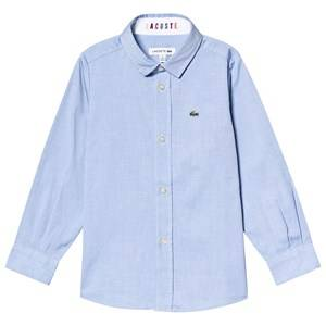 Lacoste Contrast Cuff Oxford Shirt Blue 6 years
