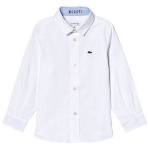 Lacoste Contrast Cuff Oxford Shirt White 14 years