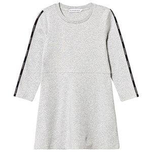 Image of Calvin Klein Jeans Logo Tape Dress Grey 14 years