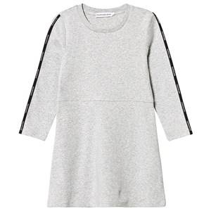 Image of Calvin Klein Jeans Logo Tape Dress Grey 4 years