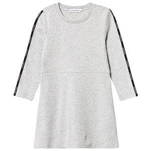Image of Calvin Klein Jeans Logo Tape Dress Grey 8 years