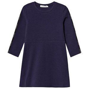 Image of Calvin Klein Jeans Logo Tape Dress Navy 10 years
