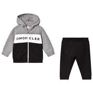 Moncler Color Block Branded Tracksuit Grey 2 years