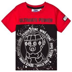 Fabric Flavours Avengers Infinite Power T-Shirt Red/Black 7-8 years
